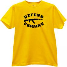 Defend Ukraine AK-47 Kalashnikov T-shirt in yellow
