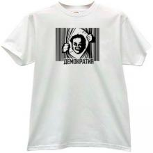 DEMOCRACY Russian T-shirt in white