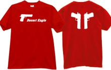 Desert Eagle Cool Weaponn T-shirt in red
