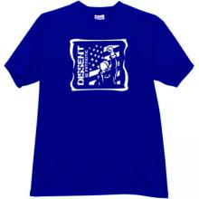 Dissent is Patriotic Cool T-shirt in blue