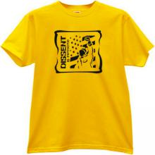 Dissent is Patriotic Cool T-shirt in yellow