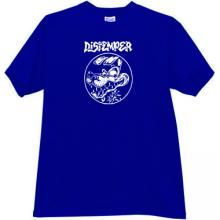 DISTEMPER - ska punk band T-shirt in blue