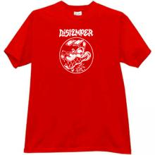 DISTEMPER - ska punk band T-shirt in red