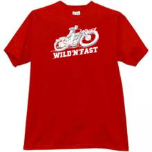 DKW - Dampf Kraft Wagen - Wild N Fast Moto t-shirt in red