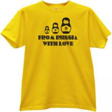 Russian Dolls From Russia with Love T-shirt in yellow
