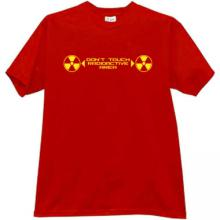 Dont Touch Radioactive Area T-shirt in red