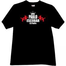 Pablo Escobar El.Padre Cool Mafia T-shirt in black