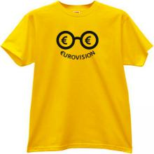 Eurovision Funny t-shirt in yellow