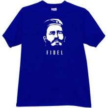 FIDEL Revolutionary T-shirt in blue