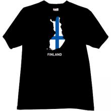 Finland T-shirt in black