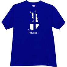 Finland T-shirt in blue