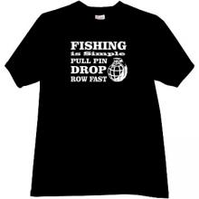 Fishing is simple... Funny T-shirt in black