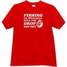 Fishing is simple... Funny T-shirt in red