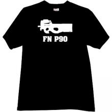 FN P90 Weapon T-shirt in black