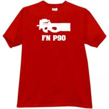 FN P90 Weapon T-shirt in red