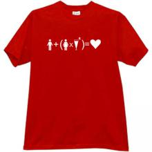 Formula of Love! Funny T-shirt in red