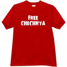 FREE CHECHNYA Cool T-shirt in red