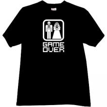 Funny black T-shirt GAME OVER