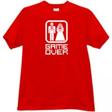Funny red T-shirt GAME OVER