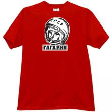 GAGARIN - first Russian Cosmonaut T-shirt in red
