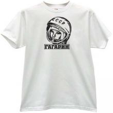 GAGARIN - first Russian Cosmonaut T-shirt in white