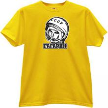 GAGARIN - first Russian Cosmonaut T-shirt in yellow