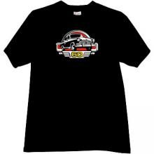 GAZ M21 Volga 60 Years Russian Retro Car T-shirt in black