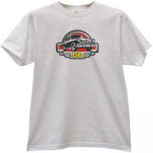 GAZ M21 Volga 60 Years Russian Retro Car T-shirt in gray