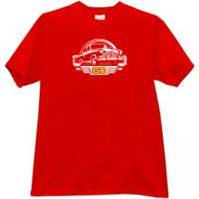 GAZ M21 Volga 60 Years Russian Retro Car T-shirt in red