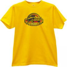 GAZ M21 Volga 60 Years Russian Retro Car T-shirt in yellow