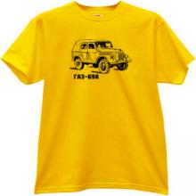 GAZ - 69A Soviet Russian Outroad Retro Car T-shirt in yellow