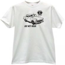 GAZ M21 Volga Retro Russian Car T-shirt in white