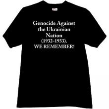 Genocide against the Ukrainian Nation T-shirt in black