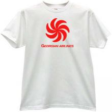 Airzena - Georgian Airlines T-shirt in white