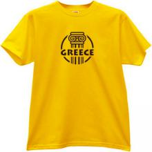 Greece T-shirt in yellow