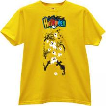Halloween T-shirt in yellow II