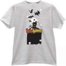 Happy Halloween T-shirt in gray