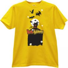 Happy Halloween T-shirt in yellow