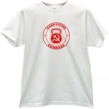 Hard living! Cool Russian T-shirt in white