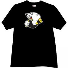 Traktor Ice Hockey Club Russian T-shirt in black