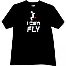 I can Fly Funny T-shirt in black