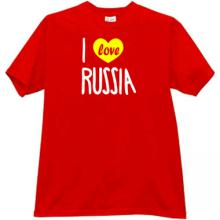 I Love Russia Cool T-shirt