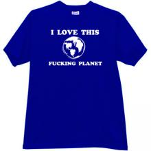 I love this Planet Funny T-shirt in blue