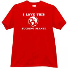 I love this Planet Funny T-shirt in red