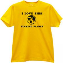 I love this Planet Funny T-shirt in yellow
