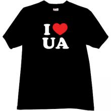I LOVE UA Cool Ukrainian Patriotic T-shirt in black