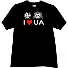 I LOVE UKRAINE Cool T-shirt in black
