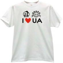I LOVE UKRAINE Cool T-shirt in white