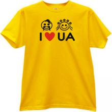 I LOVE UKRAINE Cool T-shirt in yellow