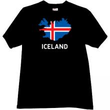 Iceland T-shirt in black